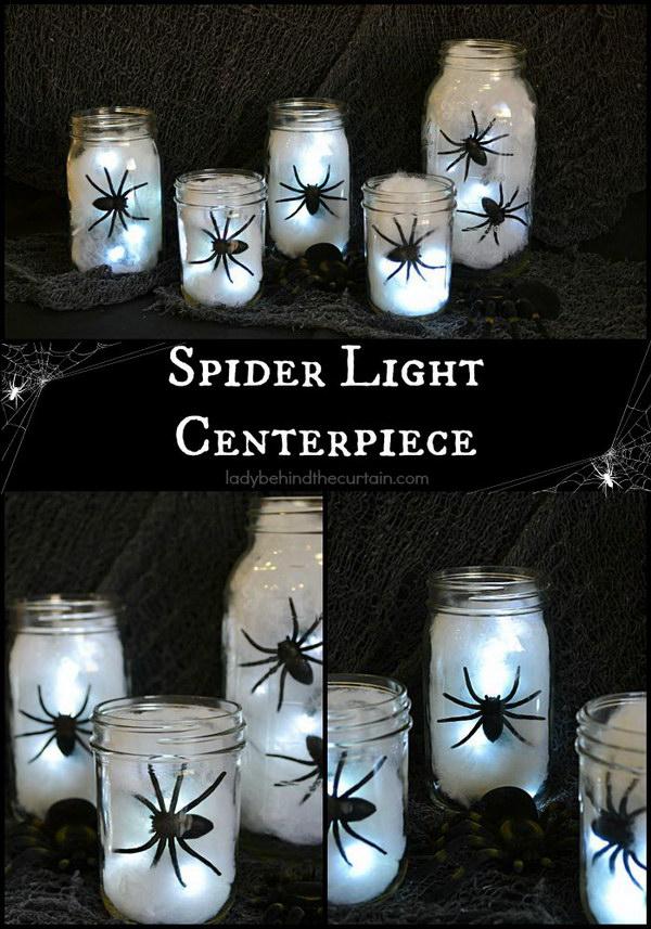 DIY Spider Lantern.