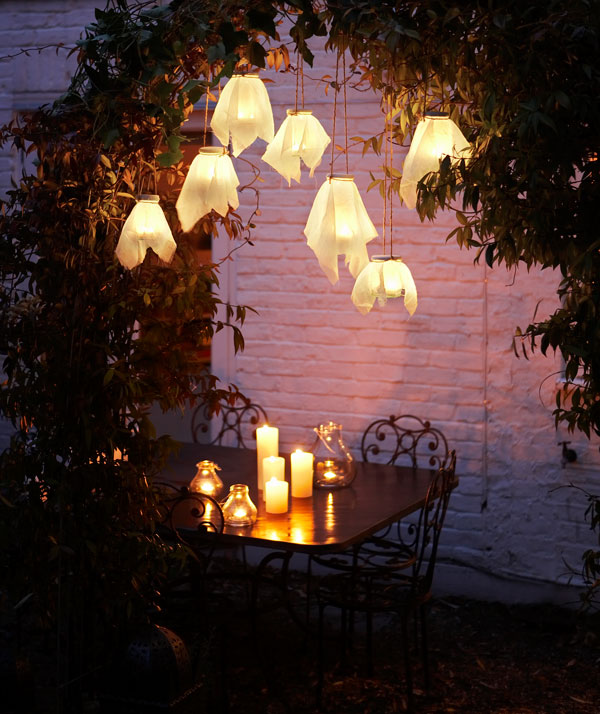 DIY Hanging Firefly Glass Lanterns.