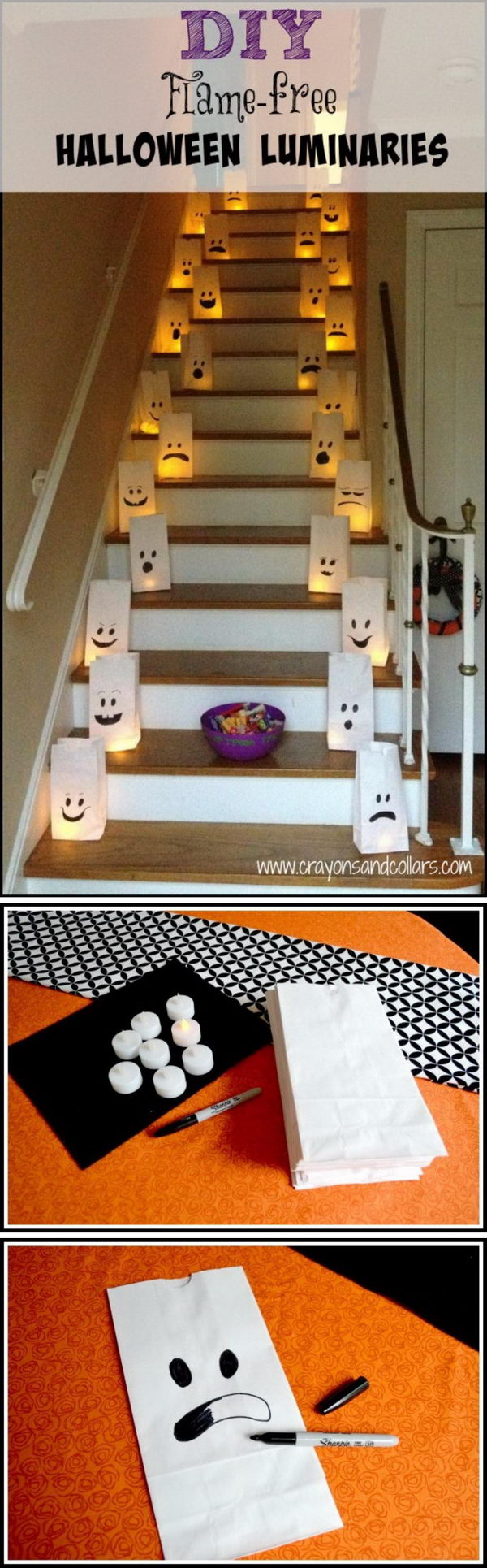 Easy DIY Halloween Luminaries.