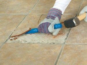Replace a Broken Floor Tile Easily.