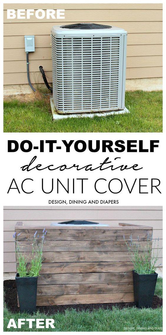 DIY Decorative Air Conditioner Unit Cover.