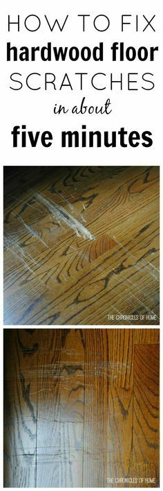 Easy Fix for Scratched Hardwood Floors.