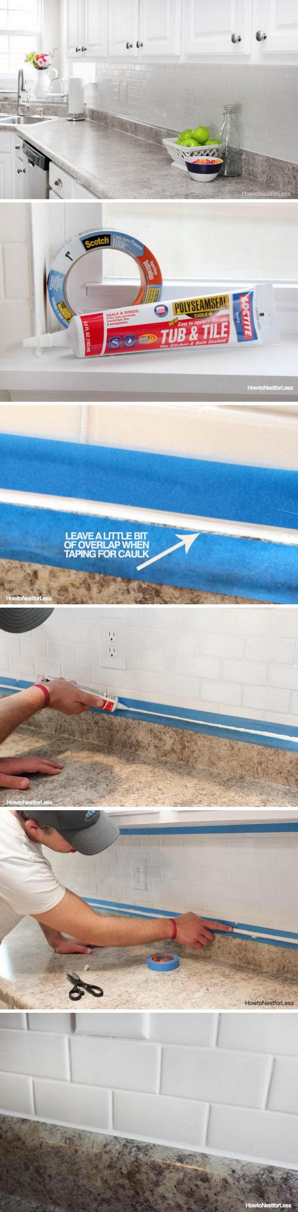 Make Clean and Beautiful Caulk Lines Like a Pro.