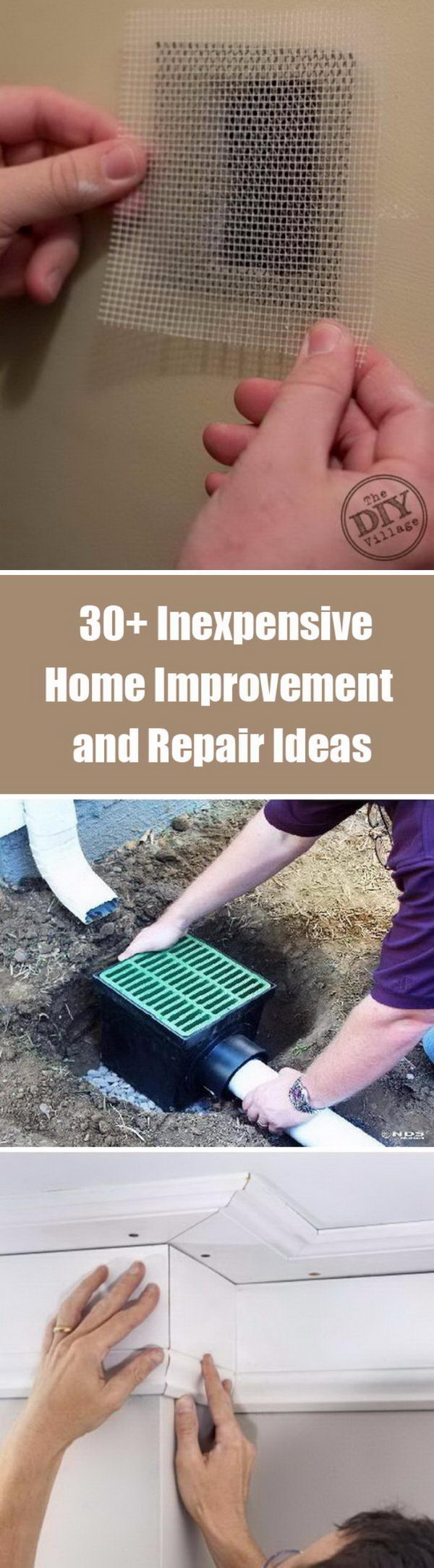 30 inexpensive home improvement and repair ideas 2017 for Cheap and easy home improvements