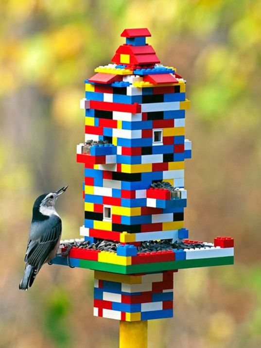 Lego Bird Feeder.