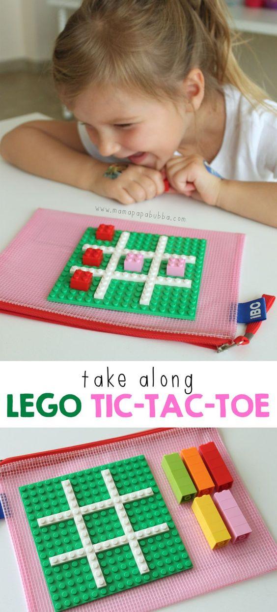 Lego Tic Tac Toe board.