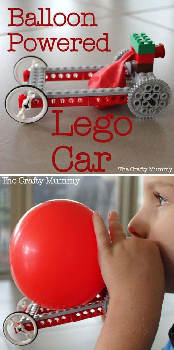 Balloon Powered Lego Car.