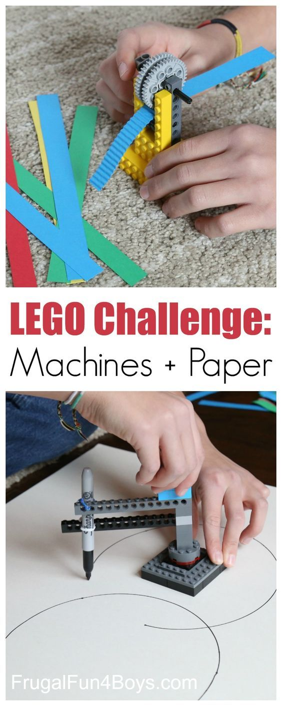 LEGO Building Challenge: Machines + Paper.