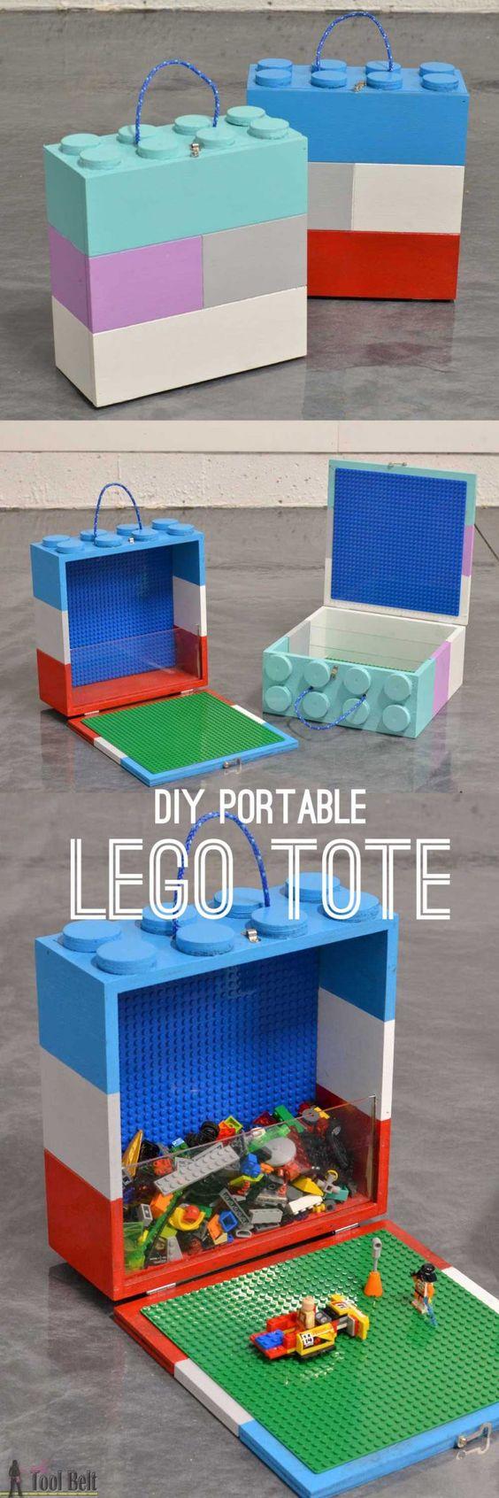 DIY Portable Lego Tote.