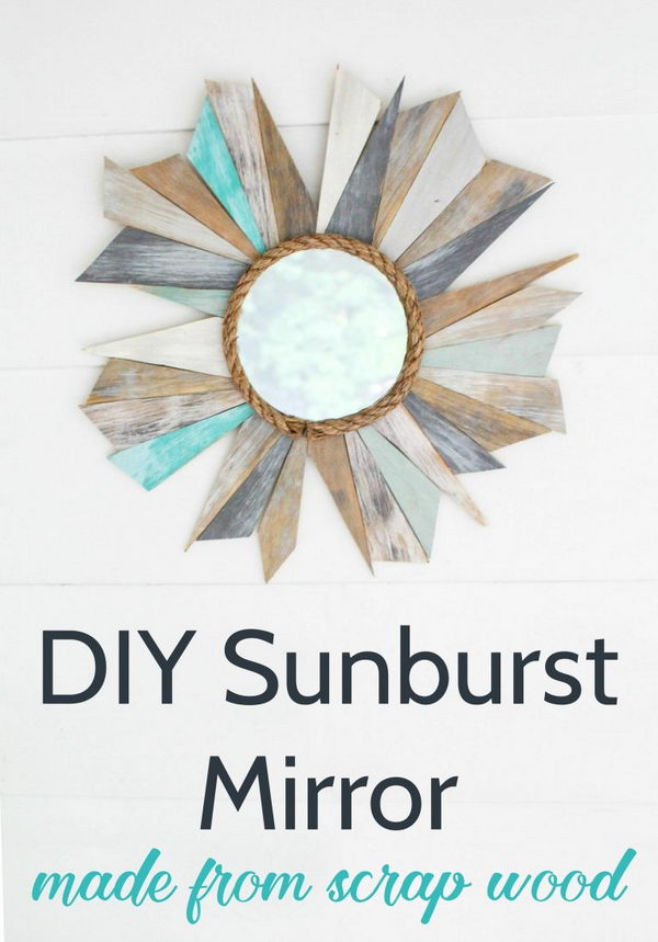 DIY Nautical Mirror from Scrap Wood.