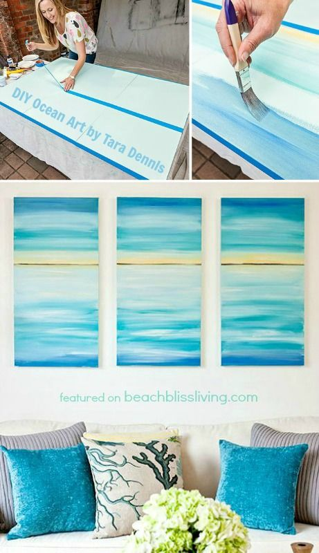 DIY Ocean Art Canvas.