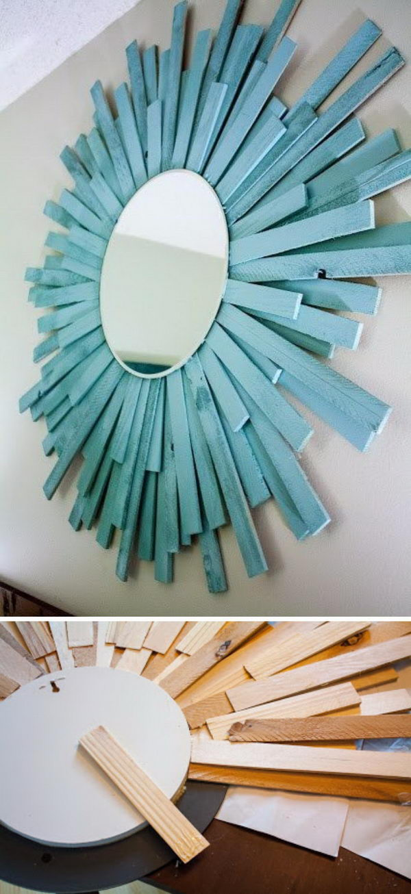 DIY Coastal Starburst Mirror.