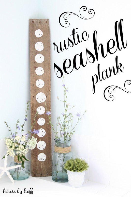 DIY Seashell Plank.
