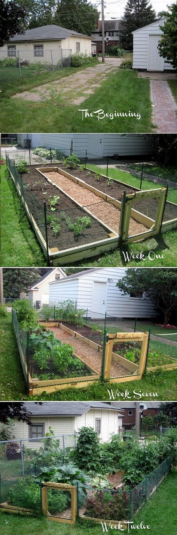 DIY U-Shaped Raised Garden Bed.