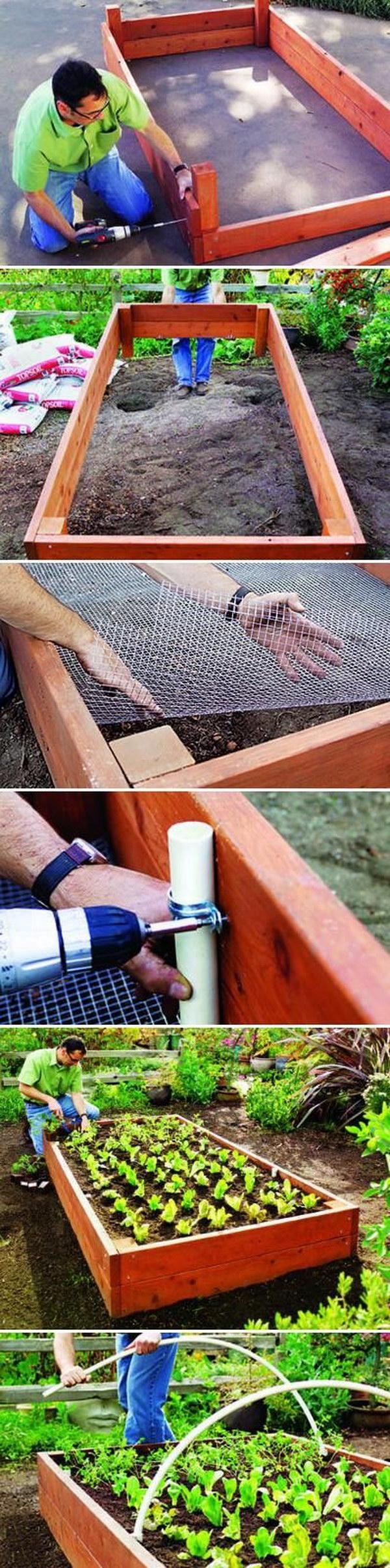 How To Build A Simple Cedar Raise Garden Bed.