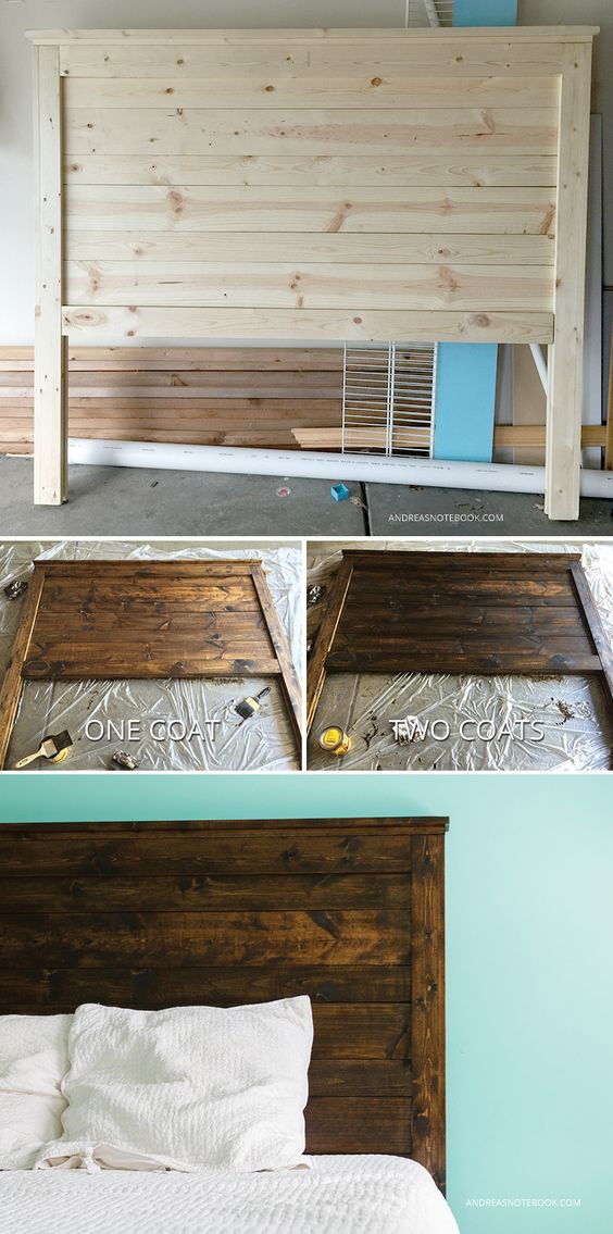 DIY Rustic Headboard.