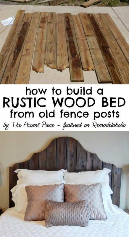 DIY Reclaimed Wood Headboard.