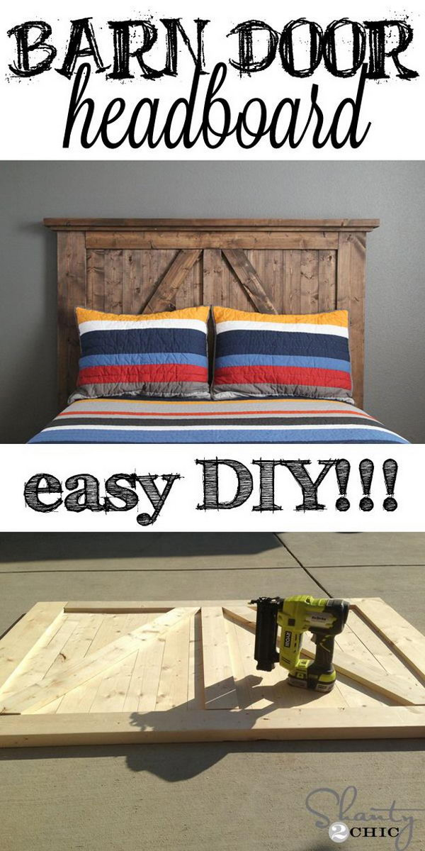 DIY Barn Door Headboard.