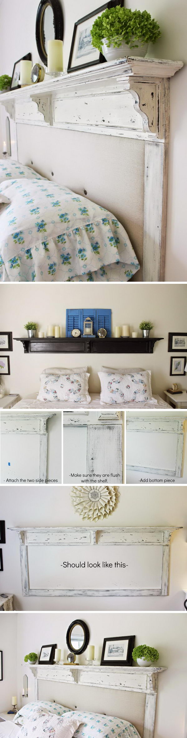 DIY Shelf Turned Headboard.