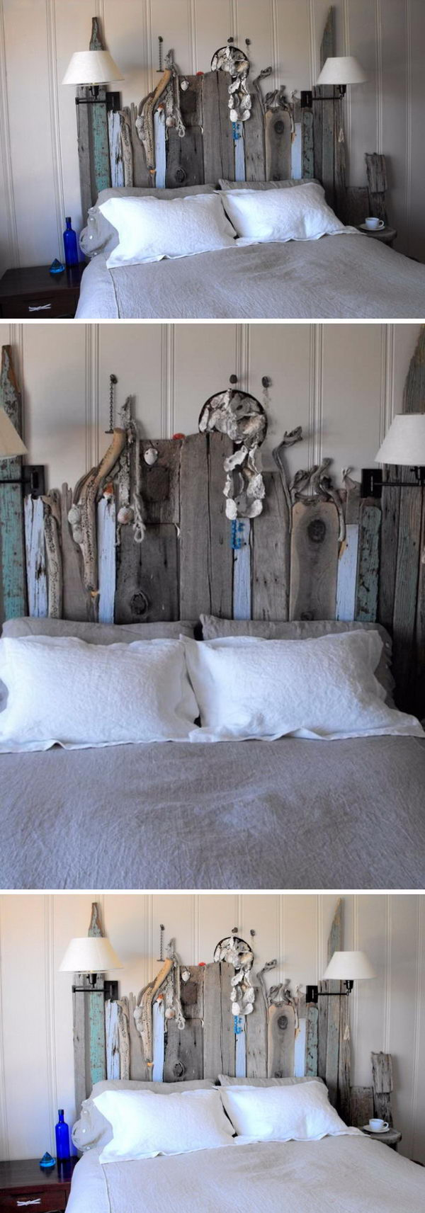 Weather Beaten Driftwood Headboard.