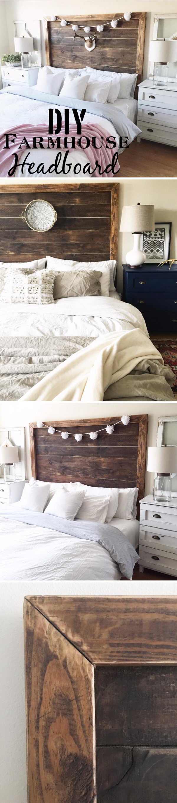 DIY Farmhouse Headboard.