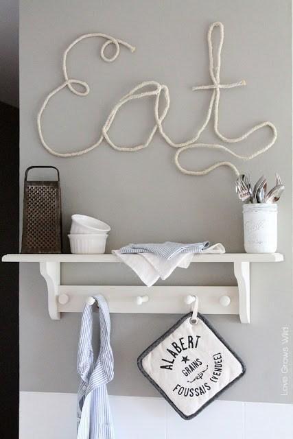 DIY Rope Letters.