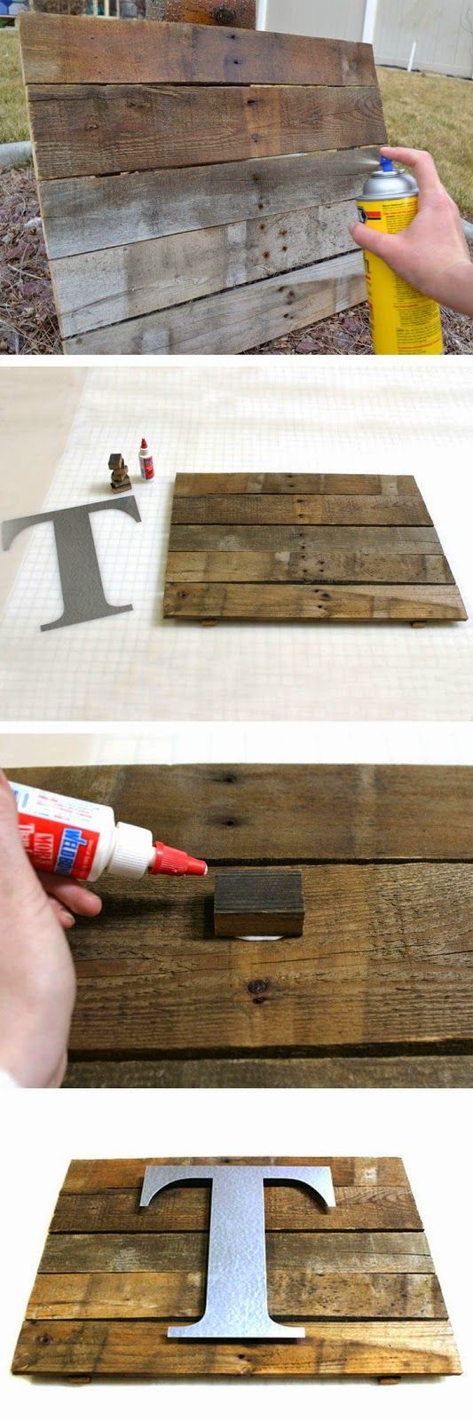 DIY Rustic Pallet Wall Plaque