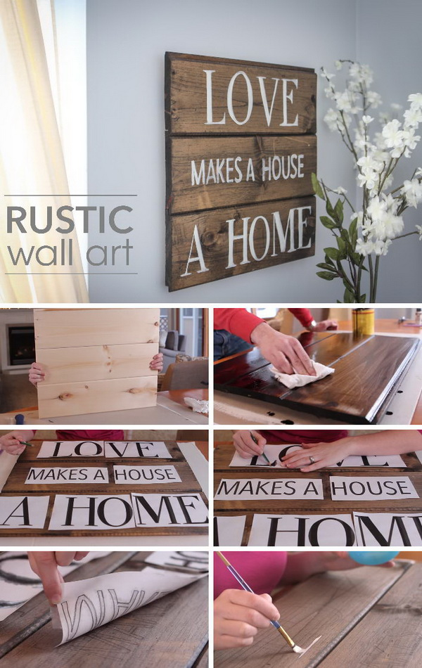 DIY Rustic Wood Wall Art.