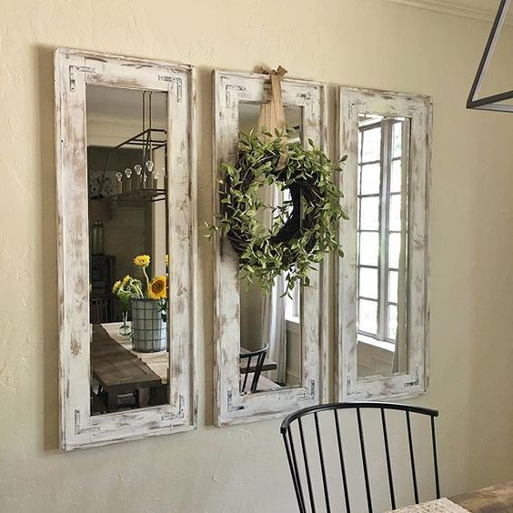 Delicieux DIY Rustic Wall Mirrors Made From Plywood And Cheap Frameless Mirrors