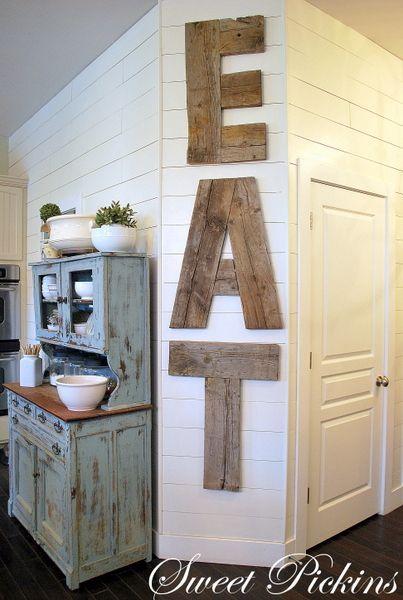 DIY Wooden Eat Sign.