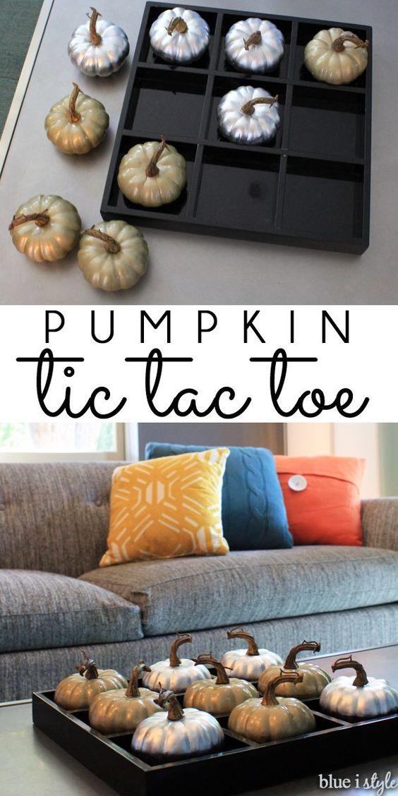 Pumpkin Tic Tac Toe.
