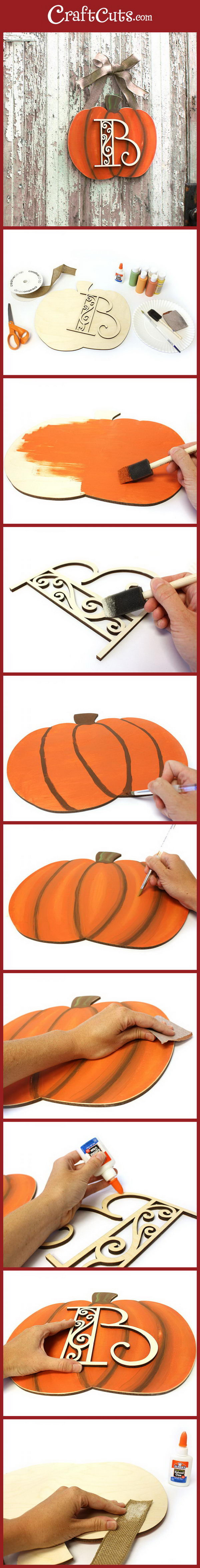 Pumpkin Monogram Wreath.