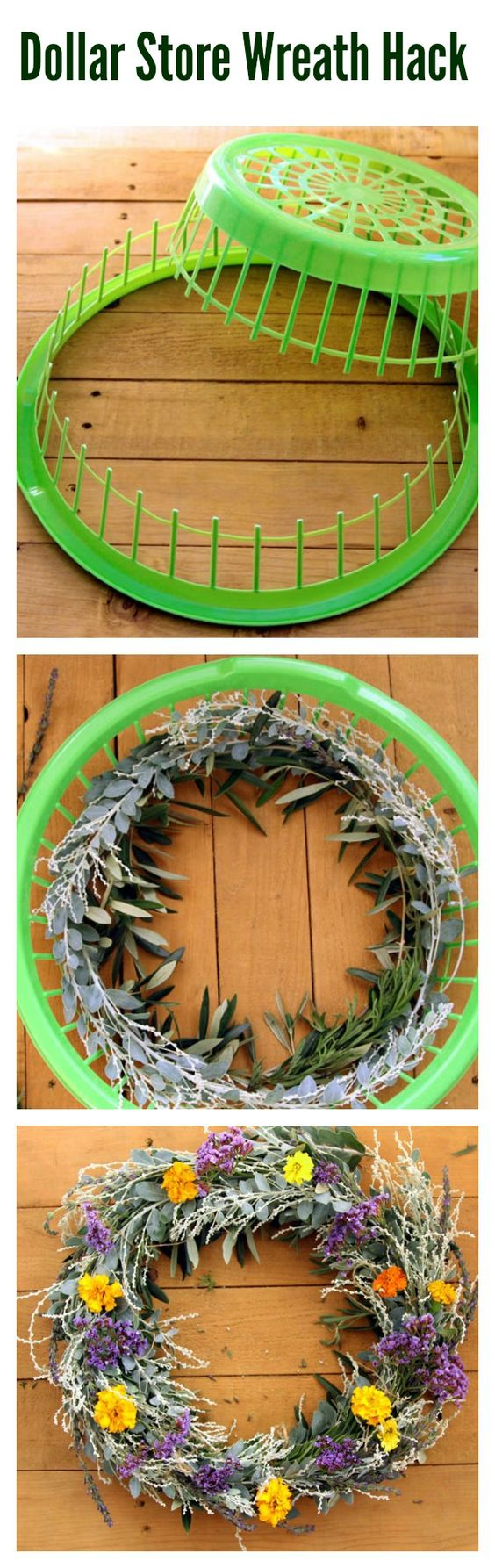 Exceptionnel Easy DIY Wreath Using Dollar Store Laundry Basket