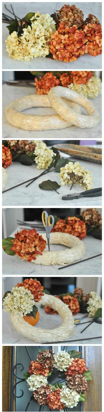 DIY Fall Floral Wreath.