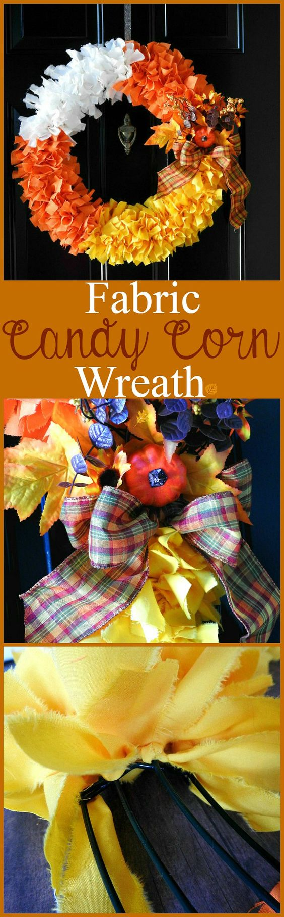 Candy Corn Fabric Wreath.