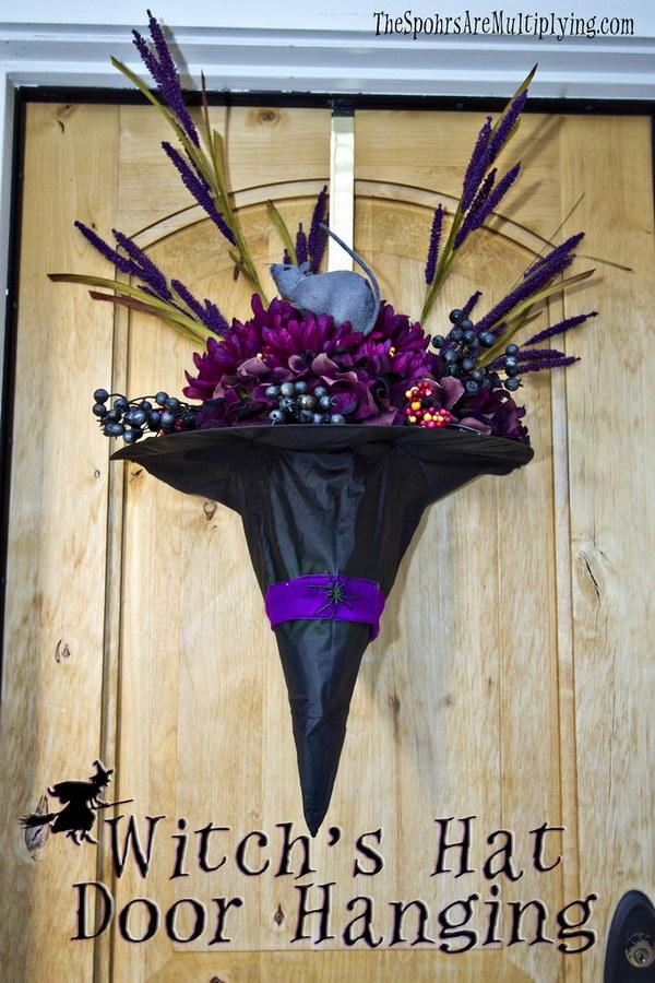DIY Witch'S Hat Door Hanging.