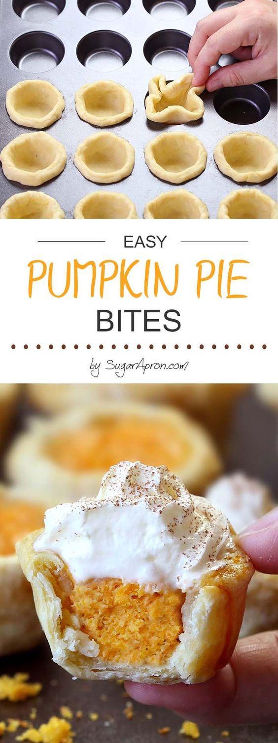 Easy Pumpkin Pie Bites.
