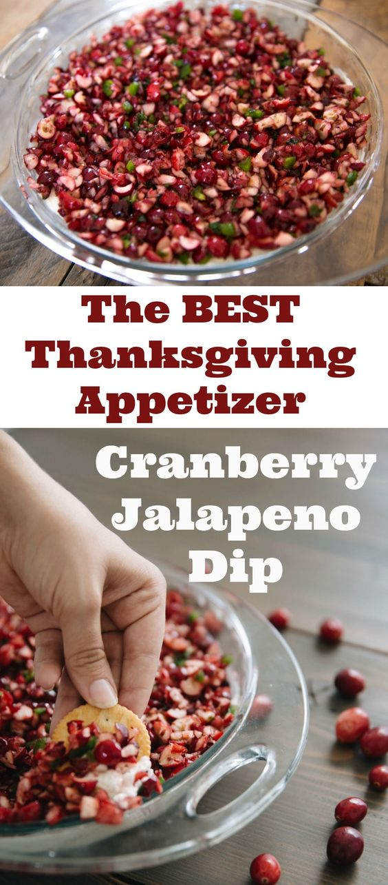 Spicy and Sweet Cranberry Jalapeno Dip.