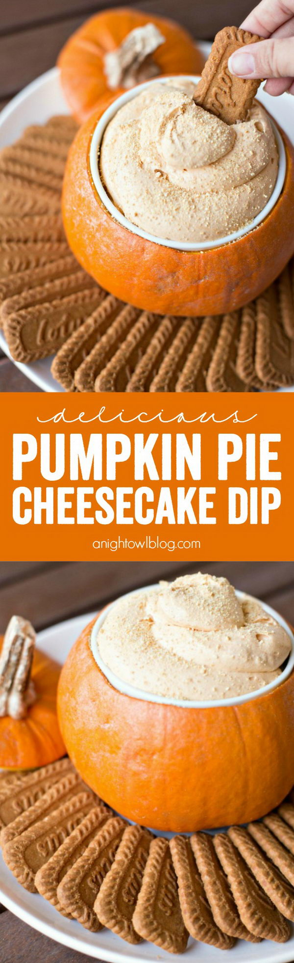 Pumpkin Pie Cheesecake Dip.