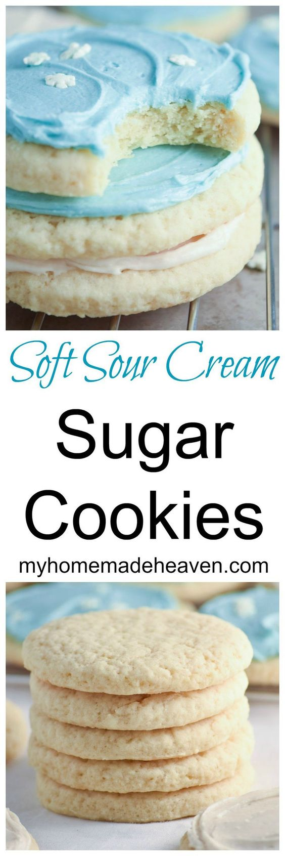 Soft Sour Cream Sugar Cookies.