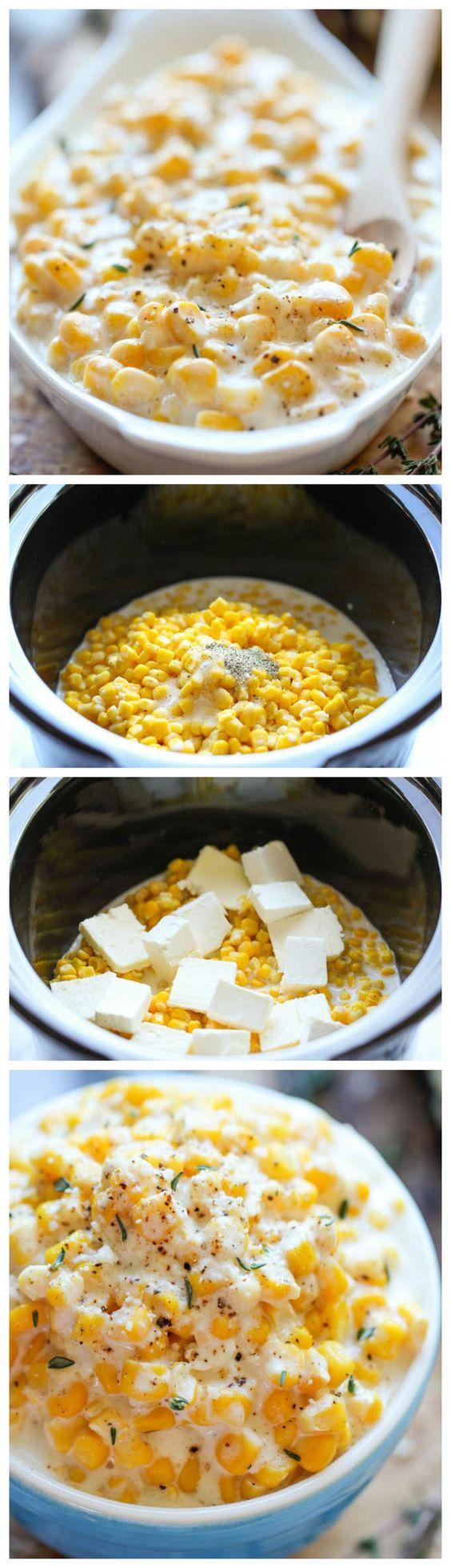 Slow Cooker Creamed Corn.