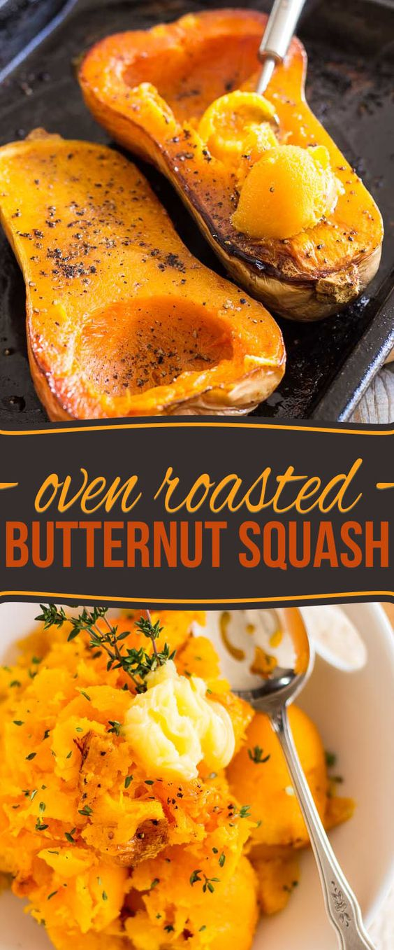 Oven Roasted Butternut Squash.