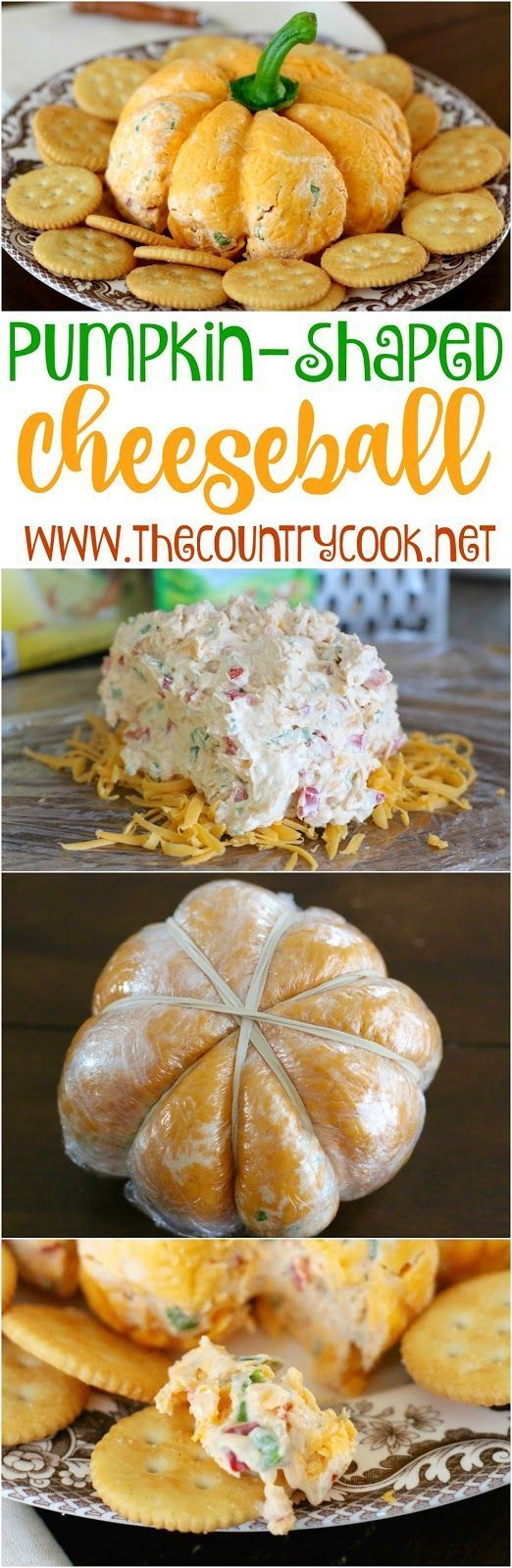 Pumpkin Shaped Cheese Ball.
