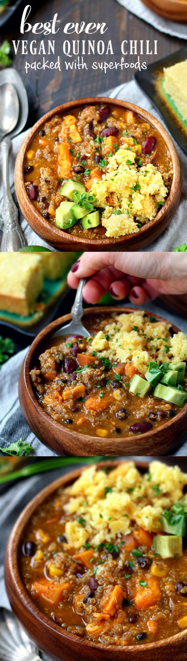 Best Ever Vegan Quinoa Chili.