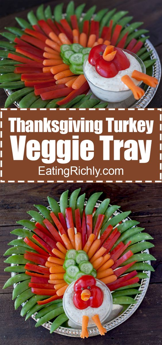 Thanksgiving Turkey Veggie Tray.