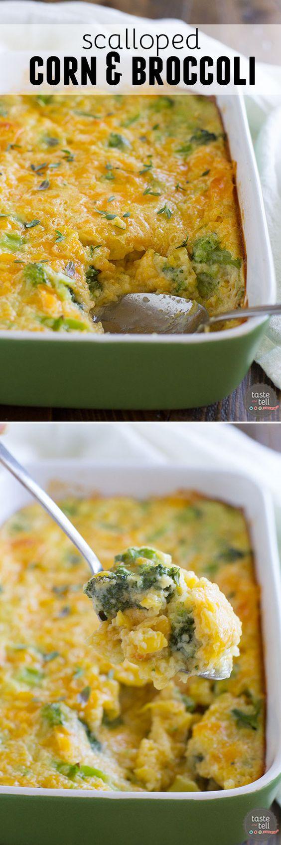 Scalloped Corn and Broccoli.