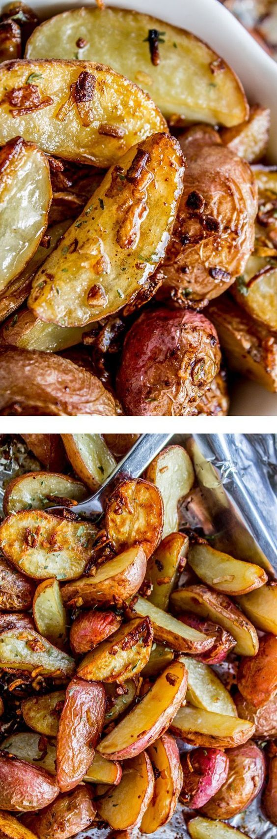 3 Ingredient Roasted Potatoes with Crunchy Onions.