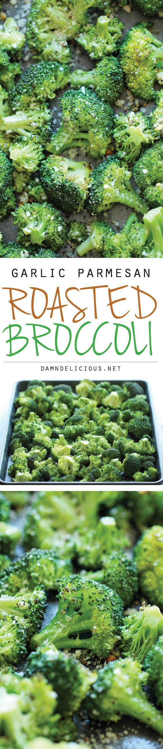 Garlic Parmesan Roasted Broccoli.