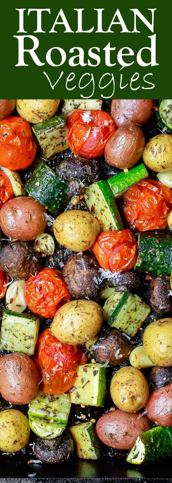 Italian Oven Roasted Vegetables.
