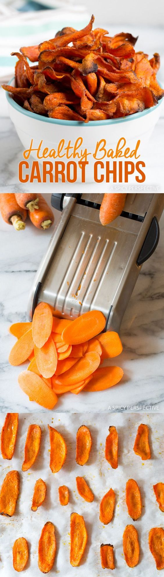Healthy Baked Carrot Chips.